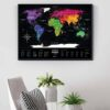 Scratch Map Black World colored in enterior
