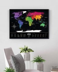 """Scratch Map """"Black World"""" colored in enterior"""