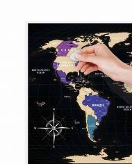 """Scratch Map """"Black World"""" scratching visited countries"""