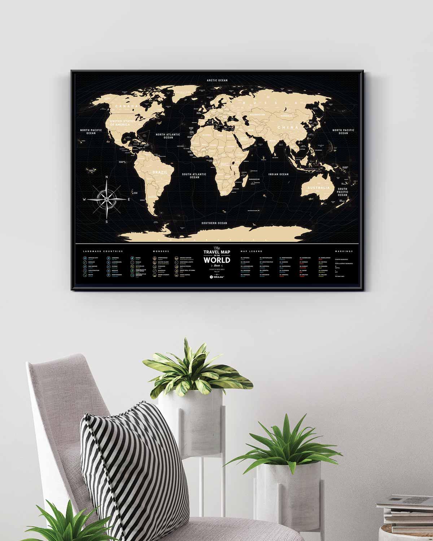 Scratch Map Black World in enterior
