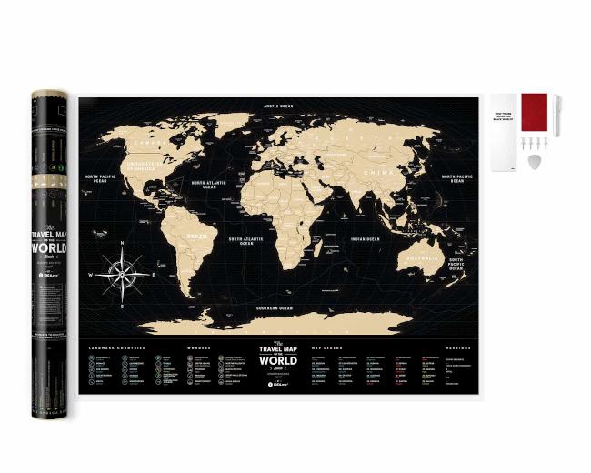 Scratch Map Black World inside content