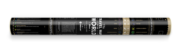 Scratch Map Black World gift tube