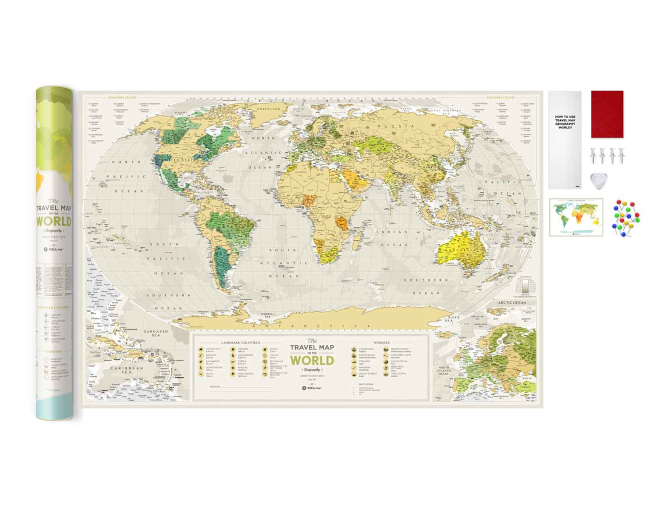 Scratch Map Geography World inside content