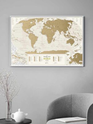 Scratch Map Geography World interior