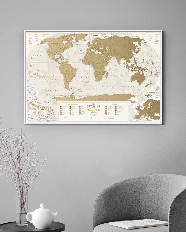 Scratch Map Geography World interior