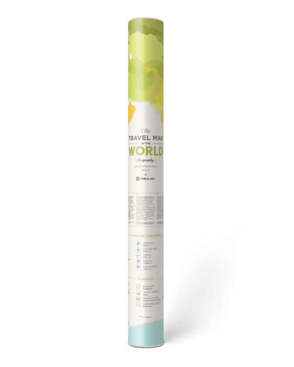 Scratch Map Geography World packaged in gift tube