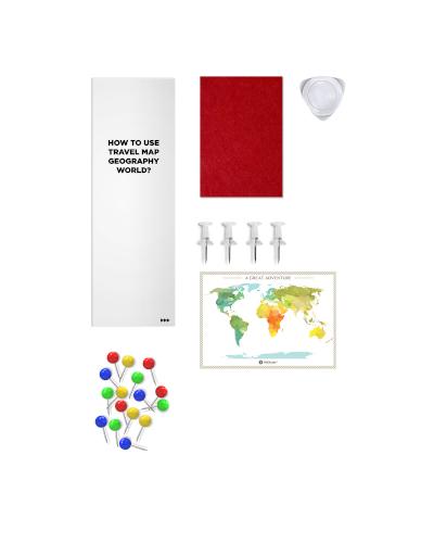 Scratch Map Geography World accessoirs set