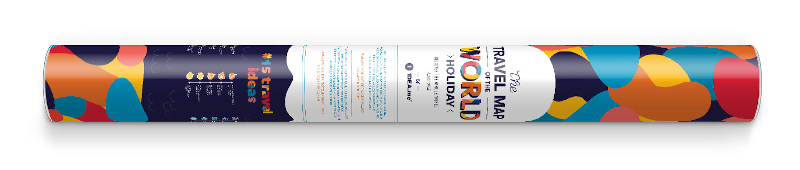 Scratch Map Holiday World gift tube