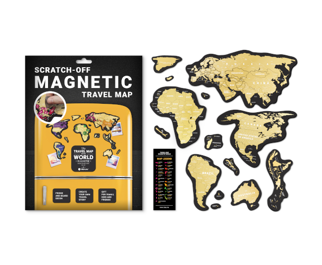 Scratch Map Magnetic World inside content