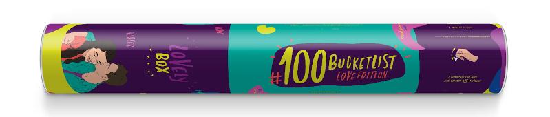 100 bucket list Love Edition gift tube