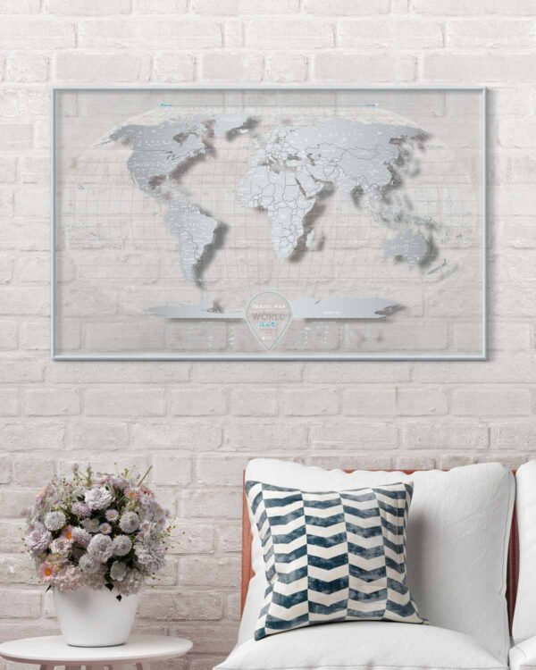 Scratch Map Air World in interior