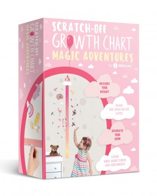 """Scratch-off Wall Growth Chart """"MAGIC ADVENTURES"""" gift box"""