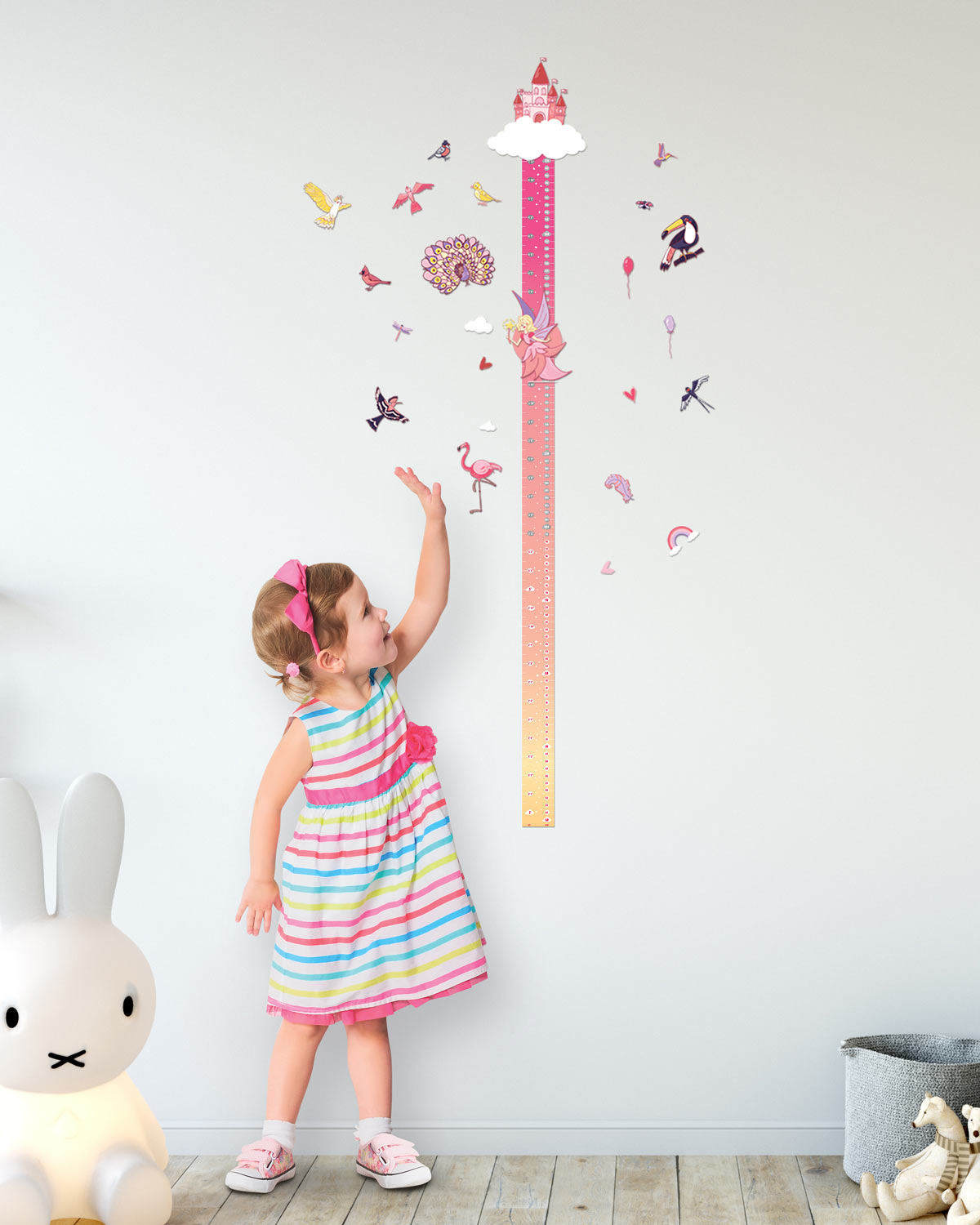 "Scratch-off Wall Growth Chart ""MAGIC ADVENTURES"" gift for girls"
