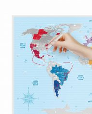 """Scratch Map """"Silver World"""" travel planing"""