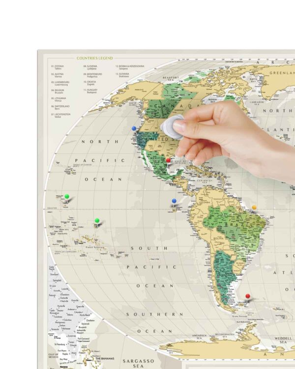Scratch Map Geography World scratched countries