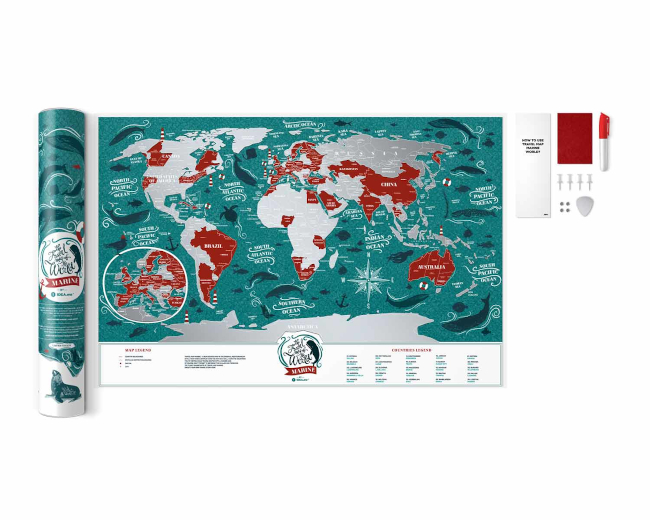 Scratch Map Marine World inside content