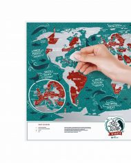 """Scratch Map """"Marine World"""" scratched countries"""