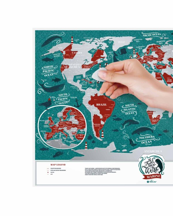 Scratch Map Marine World scratched countries