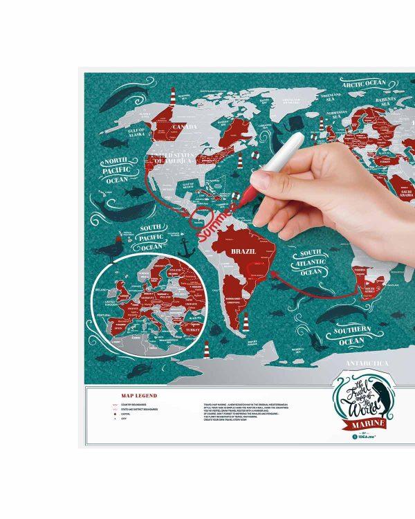 Scratch Map Marine World travel planing