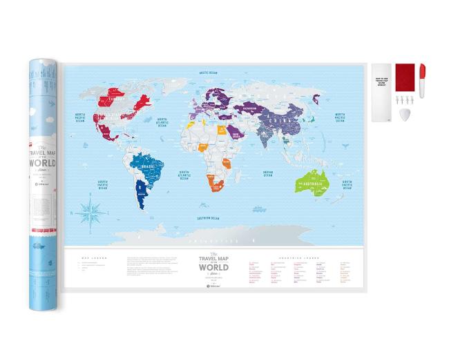 Scratch Map Silver World inside content