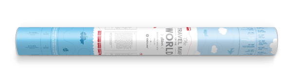 Scratch Map Silver World gift tube