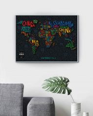 Travel Map® Letters World-scratched