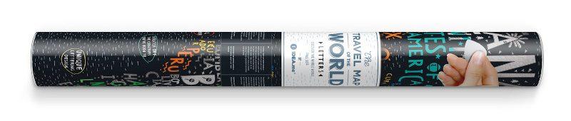 Travel Map® Letters World_Tube horizontal