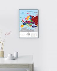 Travel-Map-Europe-Silver_Scratched