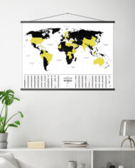 Travel Map Glow_wall_frame